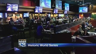Albuquerque fans pack sports bar, cheer for favorite World Series team