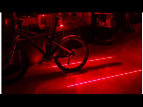 Cycling Light Warning Tail Lamp Rear Laser 5LED 2Laser Taillights Bicycle