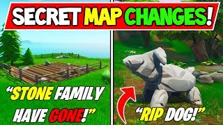 "-NOUVEAU FORTNITE SECRET MAP CHANGES ""STONE FAMILY HAVE GONE MISSING!"" - Saison 9 Storyline"