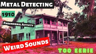 Metal Detecting Abandoned Eerie House | Paranormal Activity - Is It  A Haunted House