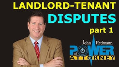 Landlord-Tenant Disputes, part 1