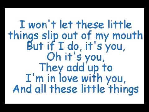 one direction little things lyrics on screen - Harry ...