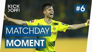 Julian Weigl scores his first Bundesliga goal | Dortmund v Gladbach | Matchday Moments