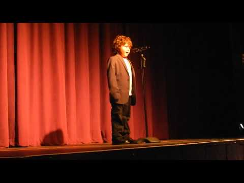 "Little Joseph, ""The Wizard of Awwes"" singing To Where You Are"
