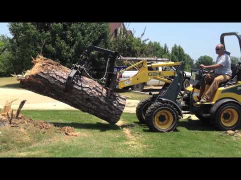 Articulating Loader Turning On Grass