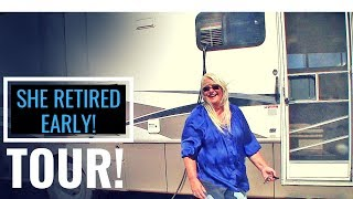 Theresa RETIRED EARLY: THE TOUR of the Class A RV that helped her...