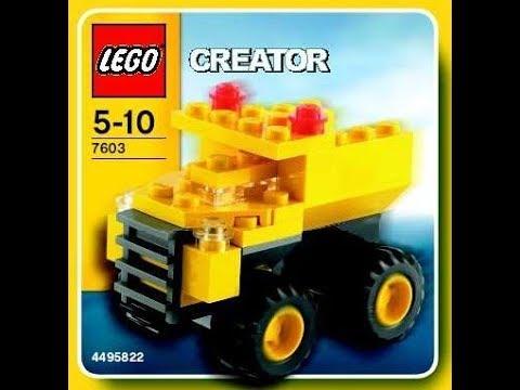 Lego Creator 7632 Dump Truck Instructions Book Diy Youtube