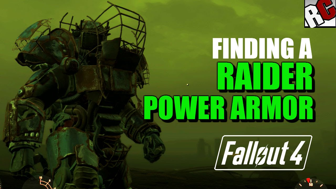 fallout 4 finding a raider power armor near the crater raider