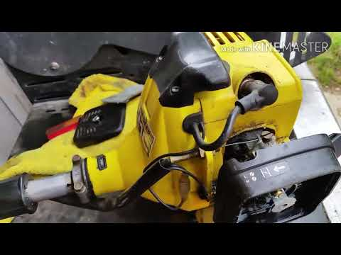 John Deere 23C Echo trimmer. Repairing a flooding carburetor