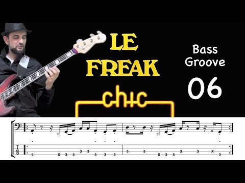 LE FREAK (Chic) How To Play Bass Groove Cover With Score & Tab Lesson