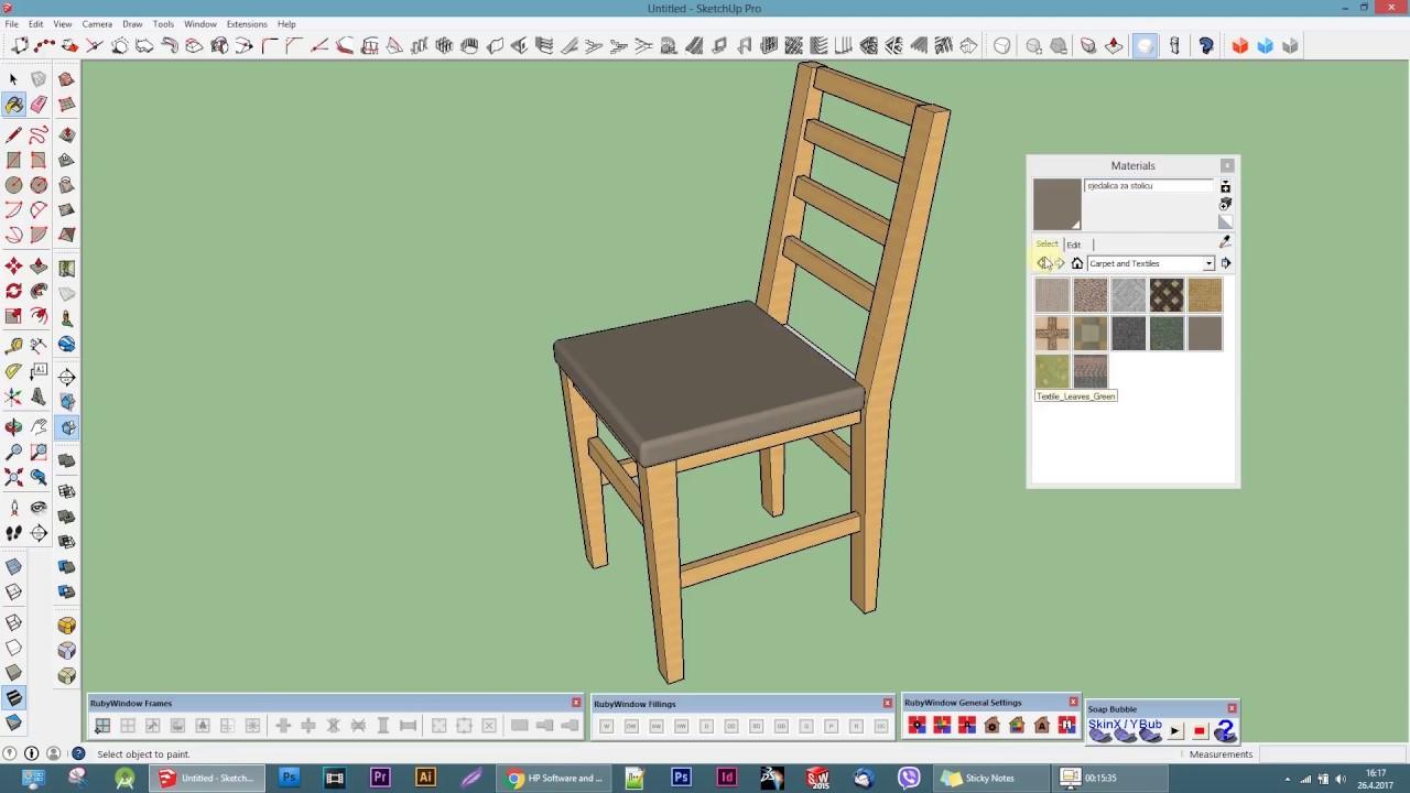 Make A Simple Chair Google Sketchup