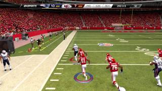 Madden 25 :: XBOX ONE Gameplay :: FUMBLE GLITCH! - Patriots Vs. Chiefs - Online Gameplay XboxOne