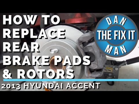2013 HYUNDAI ACCENT – HOW TO REPLACE REAR BRAKE PADS & ROTORS – DIY