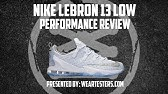 8cc4b90e3574 Nike LeBron 13 Low White Metallic Silver High Velocity - YouTube