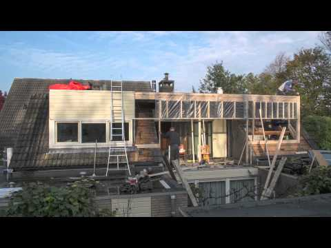 Uitbouw dak