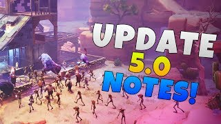 Fortnite Update 5.0 Patch Notes | Fortnite Season 5