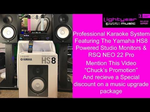 Professional Karaoke Machine with Yamaha HS8 Powered Studio Monitors | Lightyearmusic
