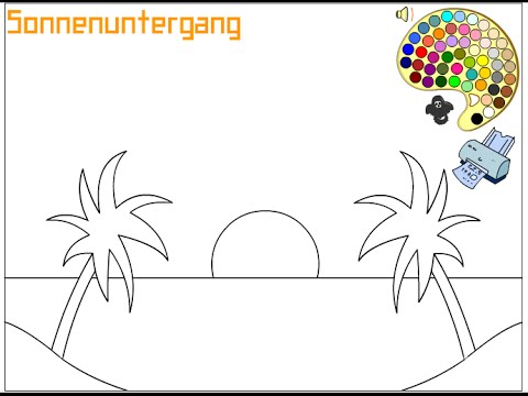 Sunset Coloring Pages For Kids - Sunset Coloring Pages - YouTube