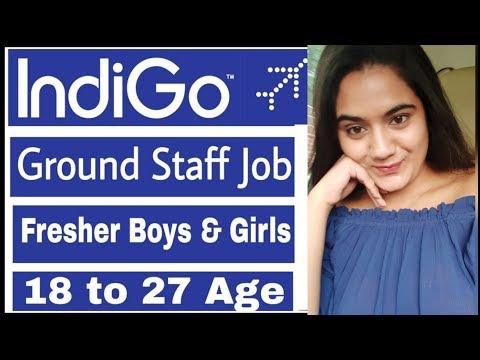 Indigo Airlines Nov 2019 Job Vacancies For Fresher Boys & Girls   Indian Airport Ground Staff Job