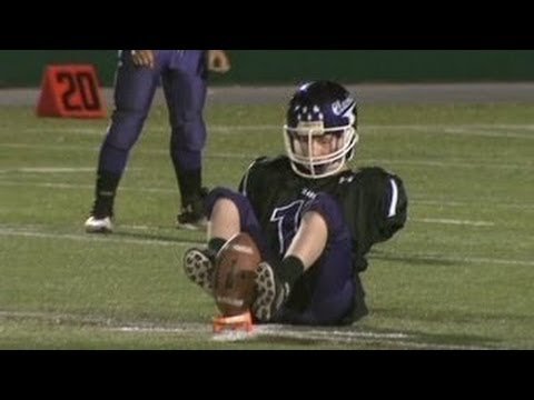 Amazing! Born Without Arms, Teen Is Football Star   Armless kicker has NFL ambitions