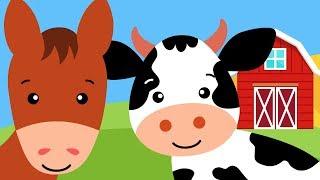 Odgłosy zwierząt dla dzieci - Farma - Pikuś i Mruczek