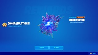 How to Unlock Cuḃic Vortex Back Bling in Fortnite Season 8! - Use a Shadow Stone or Flopper to Phase