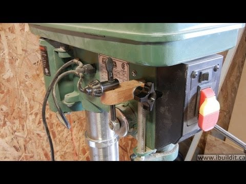 Drill Press Depth Stop And Key Holder