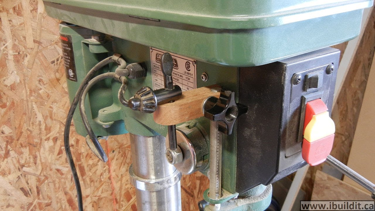 Drill Press Depth Stop And Key Holder Youtube