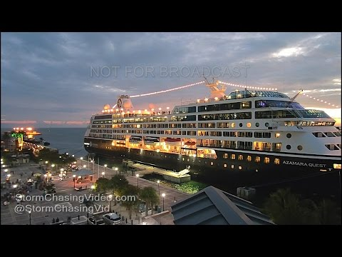 Key West, FL Mallory Square Night Cruise Ship Timelapse - 10/2/2016