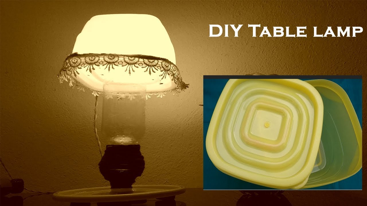 How to make table lamp at home using plastic container boxdiy how to make table lamp at home using plastic container boxdiy night lamp makingbest out of waste aloadofball Gallery