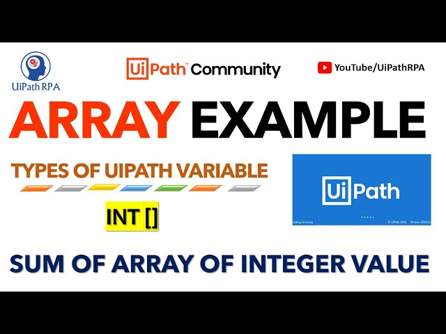 Sum of Array Of Integer Values in UiPath | Array Sum Example |Types of UiPath Variable | UiPathRPA