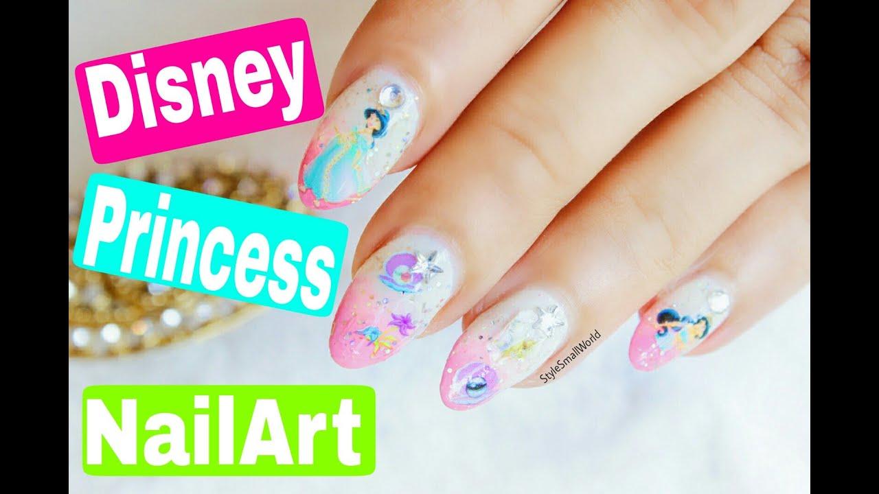 The Easiest Disney Princess Nail Art Disney Jasmine Nails Designs