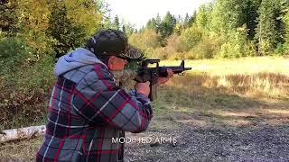 AR 15 with bump stock