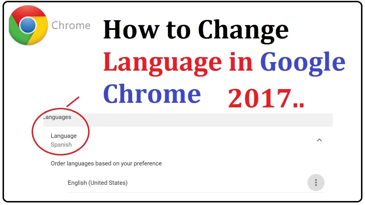 know how to change the language setting on google chrome
