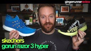 Bienes banco Ingenieria  SKECHERS GOrun RAZOR 3 HYPER & GOrun 7 HYPER REVIEW | The Ginger Runner -  YouTube