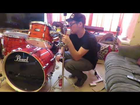 Pearl VBA LIMITED EDITION Drum Kit - Tiger Red ! (  SETUP ) & ( REVIEW )