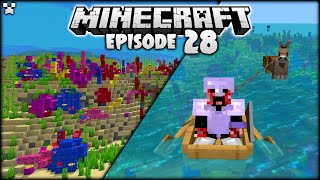 MINECRAFT OCEAN ADVENTURE & HUB PROGRESS! | Python Plays Minecraft Survival [Episode 28]