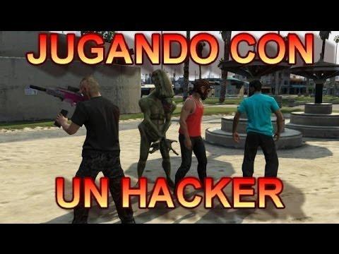GTA V Online Jugando Con un Hacker - GTA 5 Online