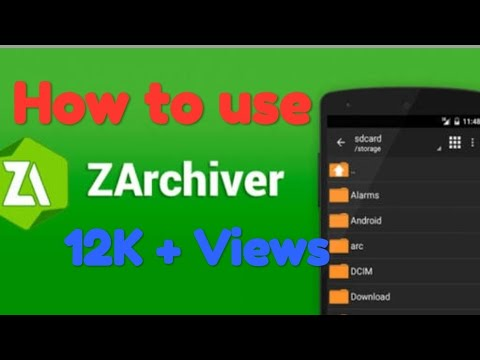 How to use Zarchiver in android full explanation// guide