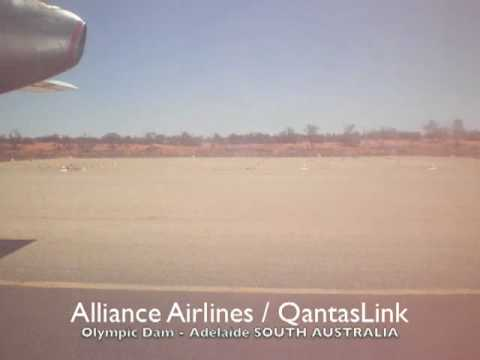 Alliance Airlines F50 Take-off from Olympic Dam