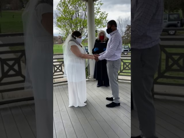 "Social Distancing Wedding ""Congratulations Radia & Gabe"