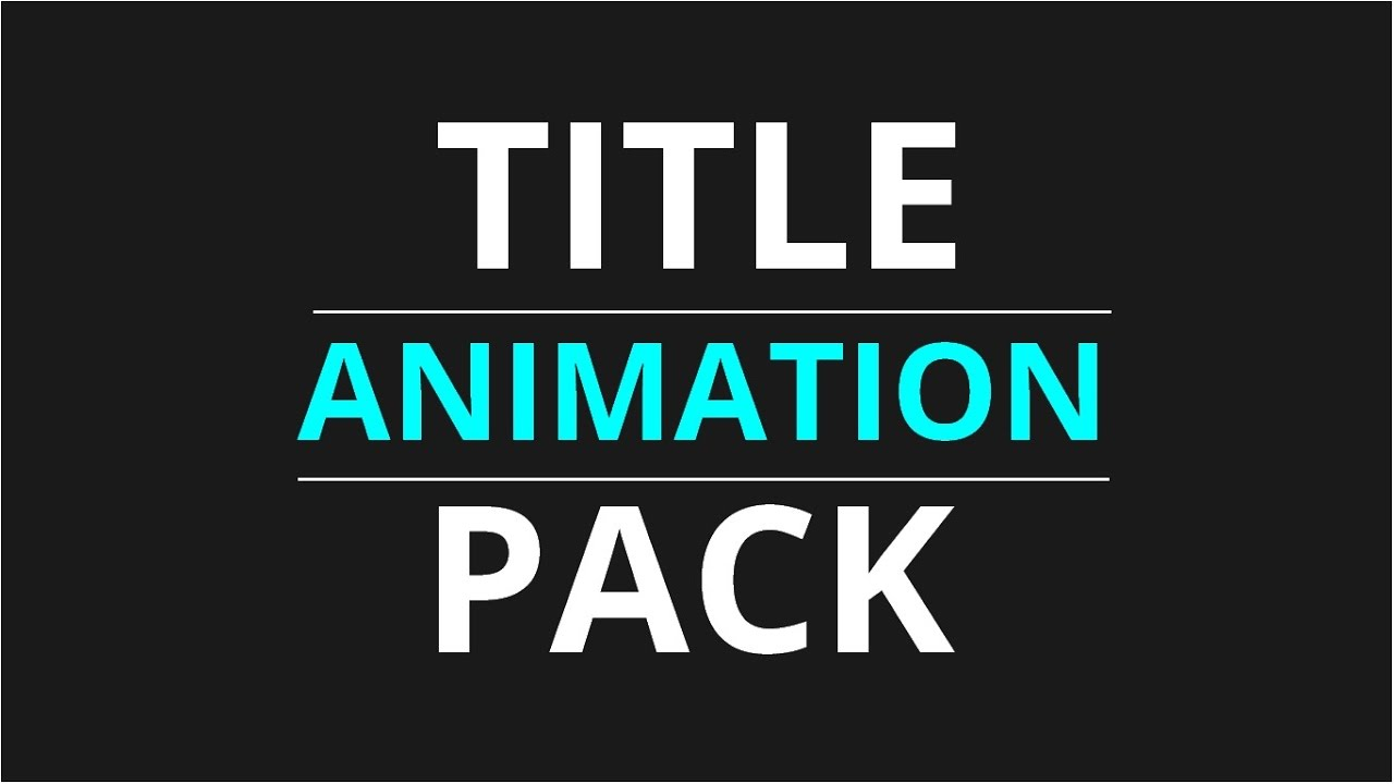 free title animation pack after effects motion graphics youtube