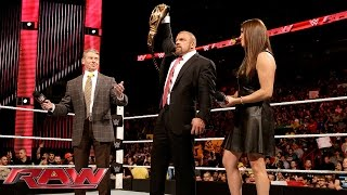 The McMahon family celebrates Triple H's Royal Rumble Match victory: Raw, January 25, 2016
