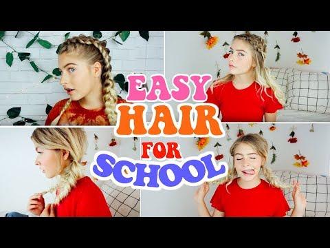 EASY & HEATLESS HAIRSTYLES FOR SCHOOL!