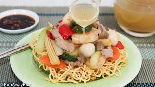 Crispy Noodle and Beef Stir-Fry/Bird