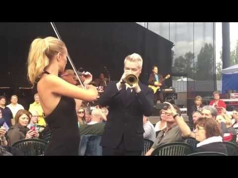 Chris Botti & Caroline Campbell  at Cht. St. Michelle 7-25-1
