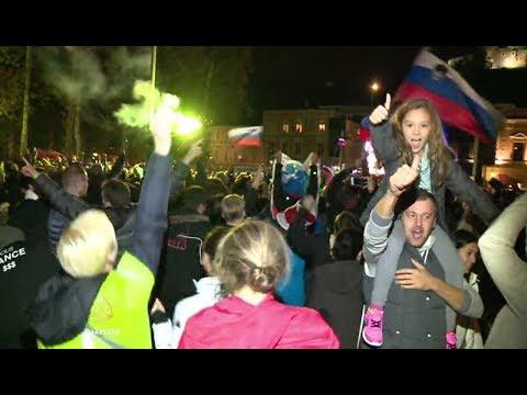 Slovenci slave, radost na ulicama Ljubljane