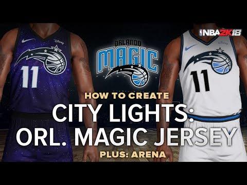 NBA 2k   Orlando Magic City Lights Jersey and Arena Tutorial Myteam Pro-AM