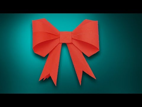 How to make a paper Bow/Ribbon || Easy origami step by step Bow/Ribbons for beginners making