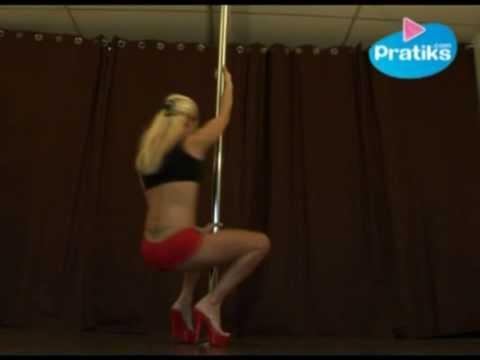 Pole dance - Heel attitude (Débutant) danse sur barre verticale